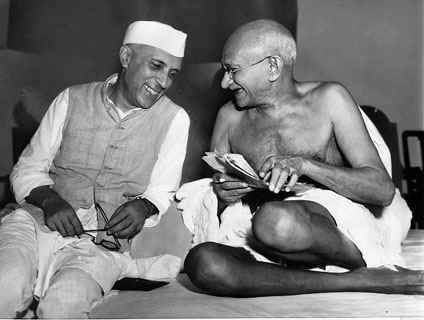 Gandhiji and Nehru